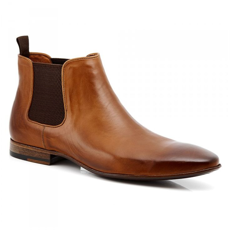 Men's Chelsea Boot #leather #tan #mensboots #aquila #chelsea #chelseaboot #leathersole