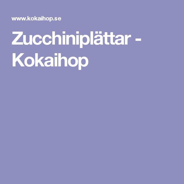 Zucchiniplättar - Kokaihop