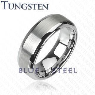 PIN IT TO WIN IT! Silver Spark: Give your fingers the perfect yet simple finish of an elegant work, this tungsten carbide ring with a matte finish center gives a unique look which cannot be resisted.  $129.99  www.buybluesteel.com