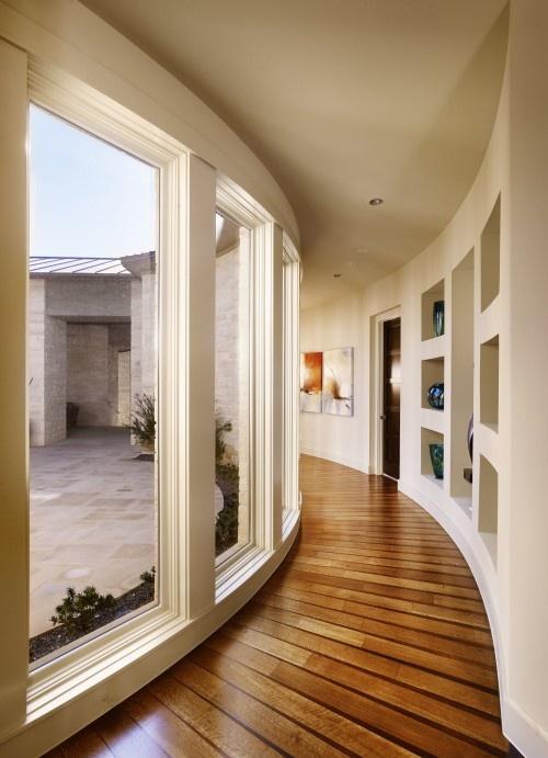 Spanish Oaks #hallway designed by Cornerstone Architects #interiors #design
