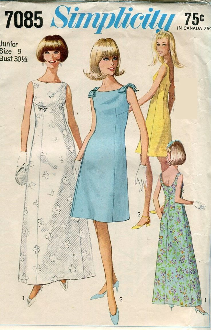 60 best 1960s patterns images on Pinterest | Vintage sewing patterns ...