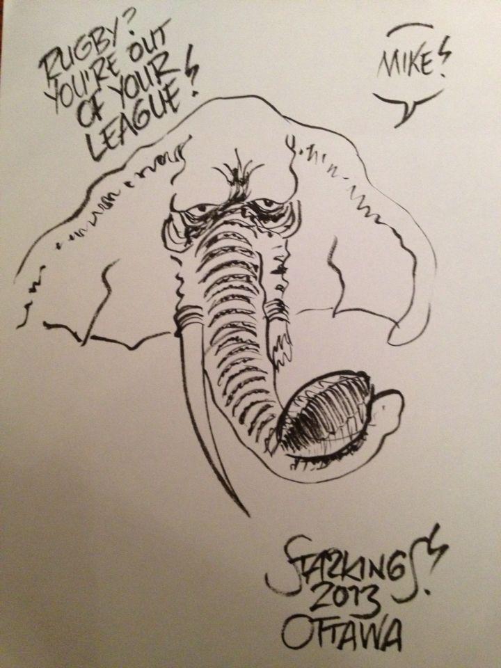 Sketch from Richard Starkings.