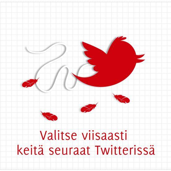 Valitse viisaasti keitä seuraat Twitterissä, by Hanna Takala