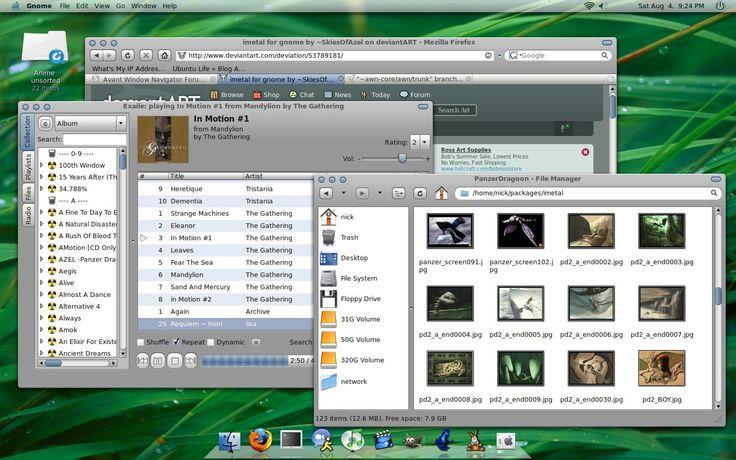imetal Gnome ubuntu Desktop theme