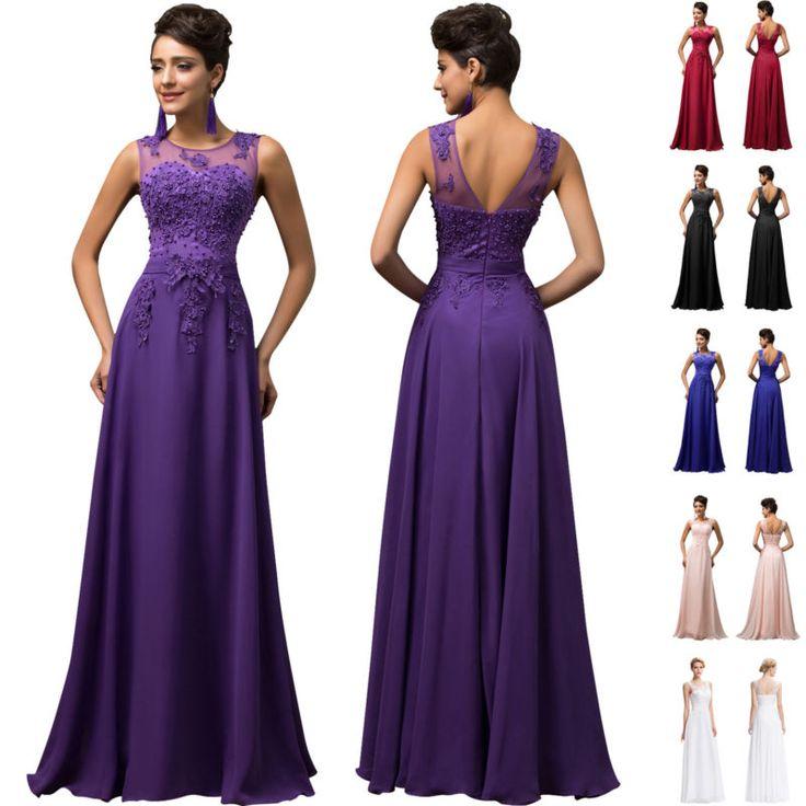 Pink + + Chiffon Vestidos de baile de longo vestido de noite formal baile festa vestido de damas de honra