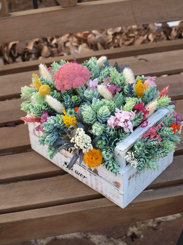 M s de 25 ideas fant sticas sobre cajas de flores en - Adornos flores secas ...