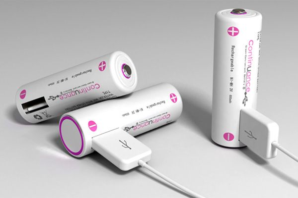Recharge these batteries with a USB cord.