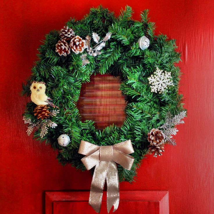 Bought a plain wreath and few ornaments decorations