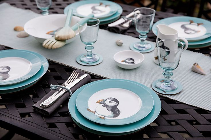Jersey Pottery Neptune Puffin tableware #JerseyPottery #ceramics #Neptune #puffin