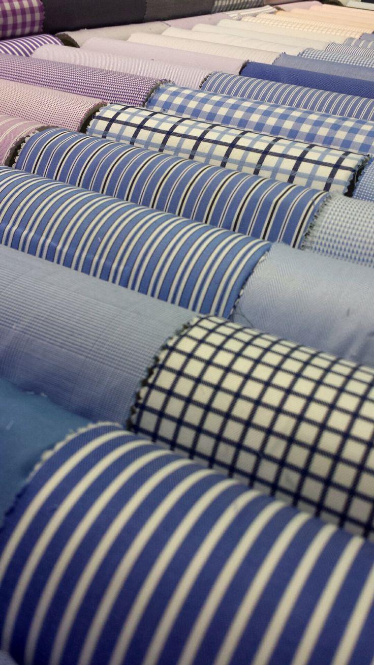 J. Hilburn shirt swatches