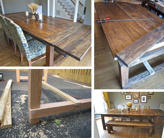 Make your own farmhouse table from Apartment Therapy and Our Con(temporary) Home