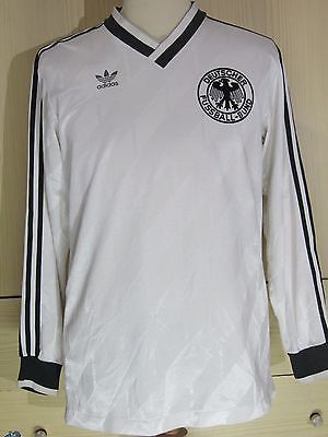 GERMANY WORLD CUP 1986 ADIDAS L/S FOOTBALL SHIRT HOME VINTAGE SOCCER JERSEY L