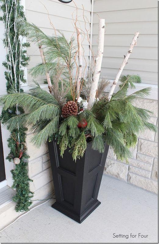 Befülle ein Gefäß mit wunderbaren Dingen aus der Natur und mache es so zu einem gewaltigen EYECATCHER im Haus oder vor der Haustüre! - DIY Bastelideen