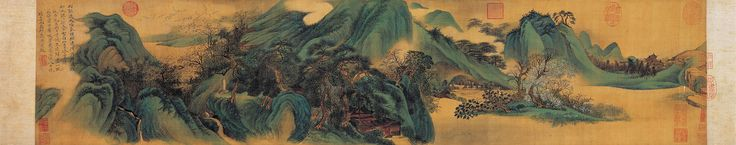 https://flic.kr/p/fXTAWK | Wu Li (1632-1718) - 1668 Green Mountains and White Clouds (National Palace Museum, Taipei, Taiwan) | Handscroll, ink and colors on silk:   25.9 x 117.2 cm.   Wu Li (simplified Chinese: 吴历; traditional Chinese: 吳歷; pinyin: Wú Lì); ca. 1632-1718 was a Chinese landscape painter and poet during the Qing Dynasty (1644–1912).  Wu was born in Changsu in the Jiangsu province.[1] His style name was 'Yu Shan' and his sobriquet was 'Mojing Daoren'. Wu was taught poetry by…