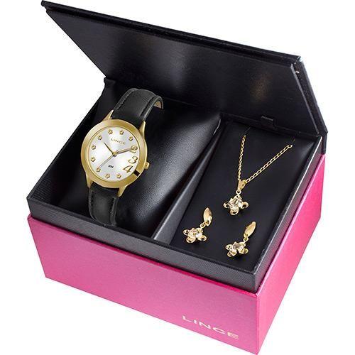 [PATROAMOB]Kits Relógio Feminino Lince Analógico Fashion - R$57,52