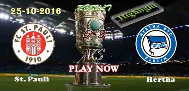 St. Pauli 0 - 2 Hertha Berlin 25.10.2016 HIGHLIGHTS - PPsoccer