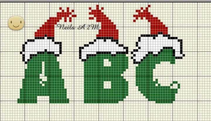 Christmas alphabet x-stitch