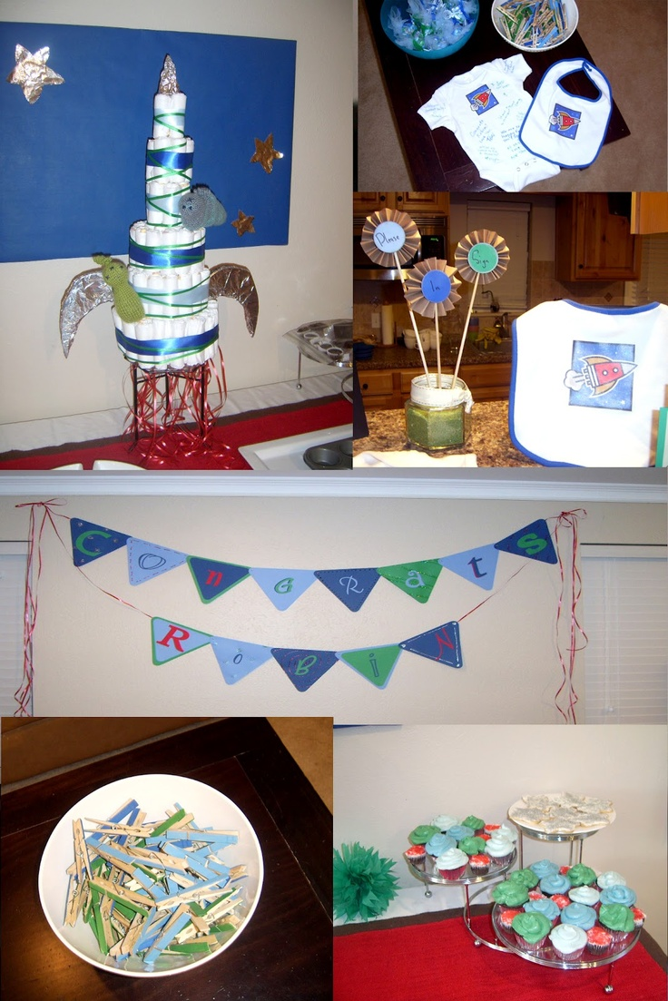 Fisher S Mommy Space Rocket Ship Baby Shower Party