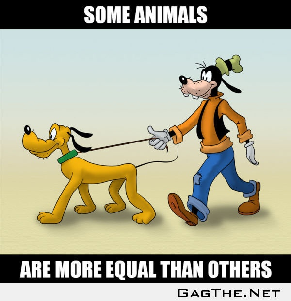Disney logic ha ha ha they are both dogs