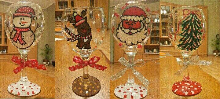 Christmas gift / Wine glasses 🍷🎁