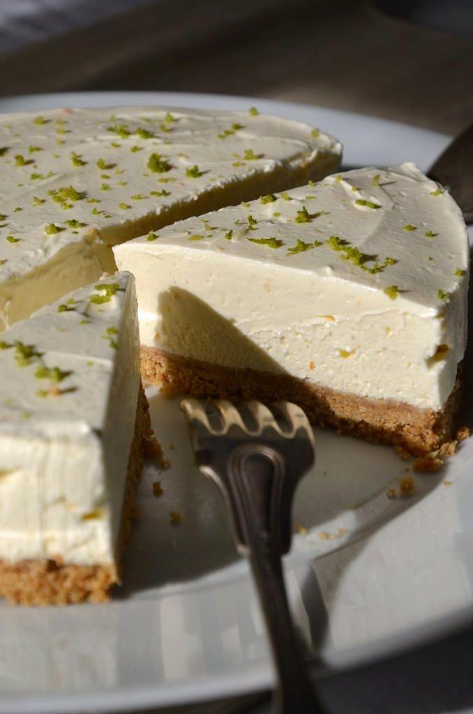 Cheesecake au citron vert sans cuisson {recette maison facile à réaliser}