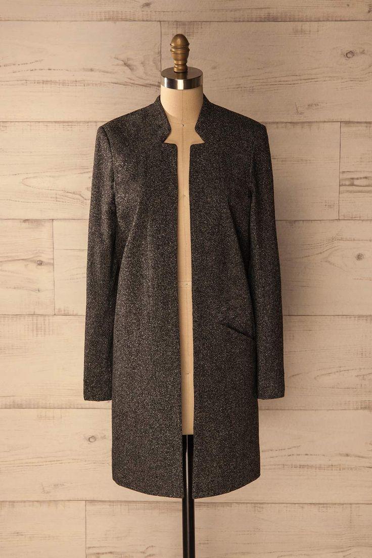 Jabara - Dark gray long wool jacket www.1861.ca
