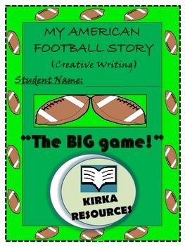 'The Big Game' / American Football / NFL - Creative Writing (Not sure if we can use the term 'Super Bowl /or Superbowl' so we have left it out of this resource?)  My American Football Story - Creative Writing:  This is a 9 page template    - Aimed for year level 2 and 3 children    - Children can write a made up story about 'The Big Game' football final and follow other various prompts to encourage their story writing..