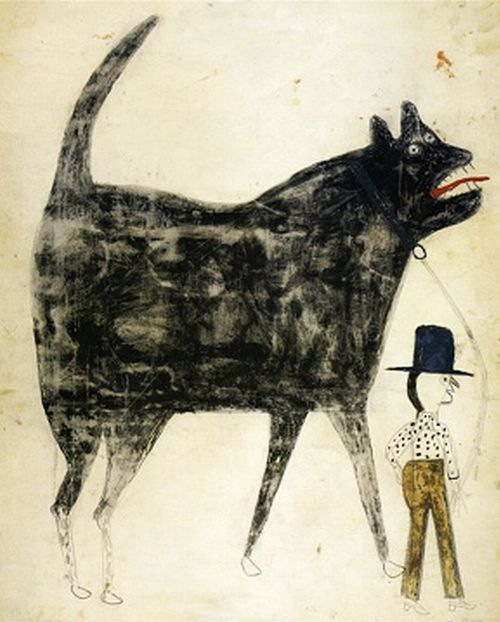 Beast.  By Bill Traylor, a self-taught artist born into slavery on a plantation near Benton, in Lowndes County, Alabama.