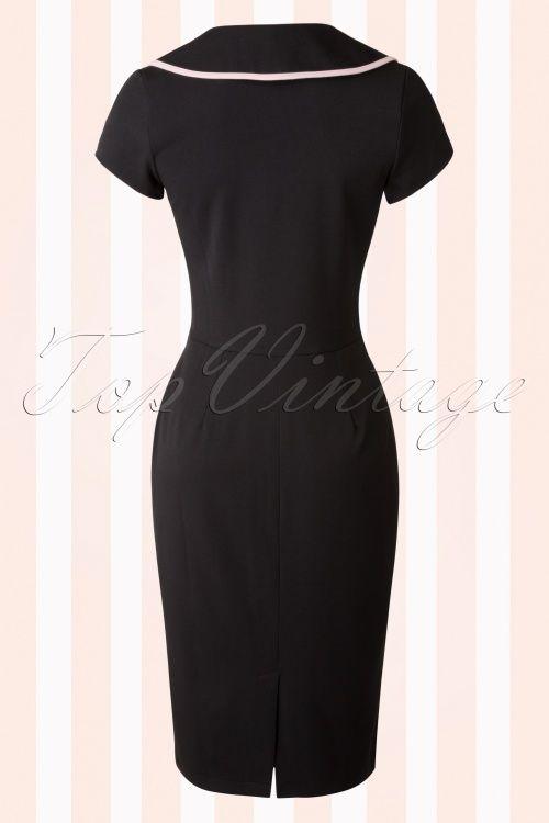 Hulahup Black Pink Pencil Dress 17899 20151214 0005W