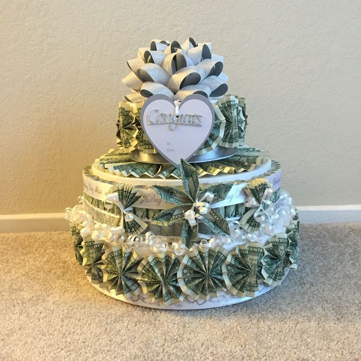 3-tier Wedding Money Cake