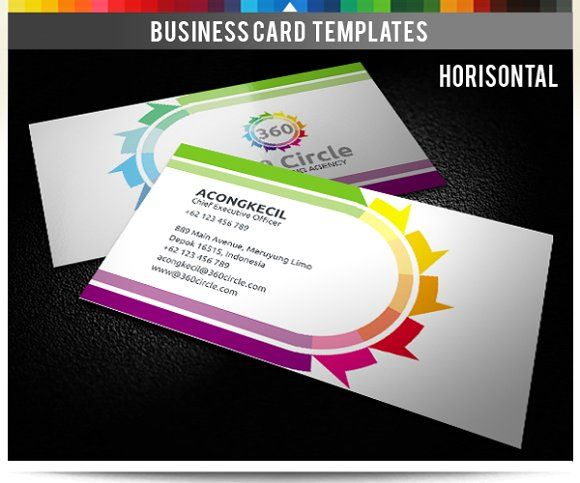 Premium Business Card - 360 Circle Templates **Premium Business Card - 360 Circle** **Discription** : Sided Business Card Front and Rear, 2 F by Acongraphic