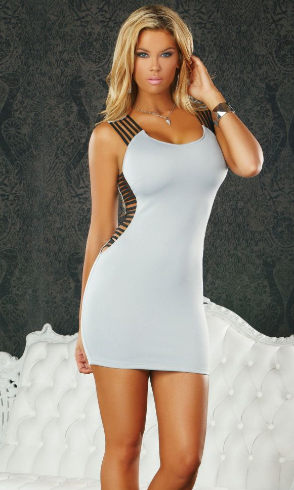 White Mini Club Dress