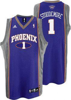 Phoenix Suns Amare Stoudemire 1 Purple Authentic Jersey Sale