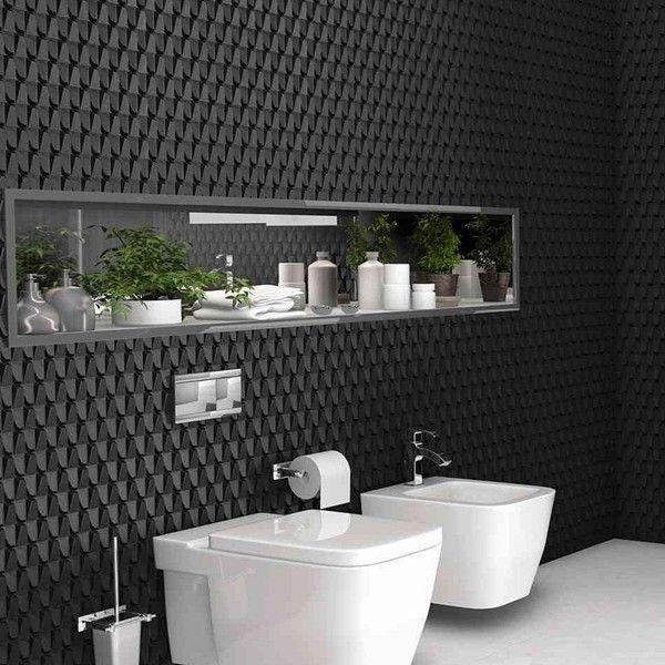 Trójwymiarowe płytki do nowoczesnej łazienki - Harmony