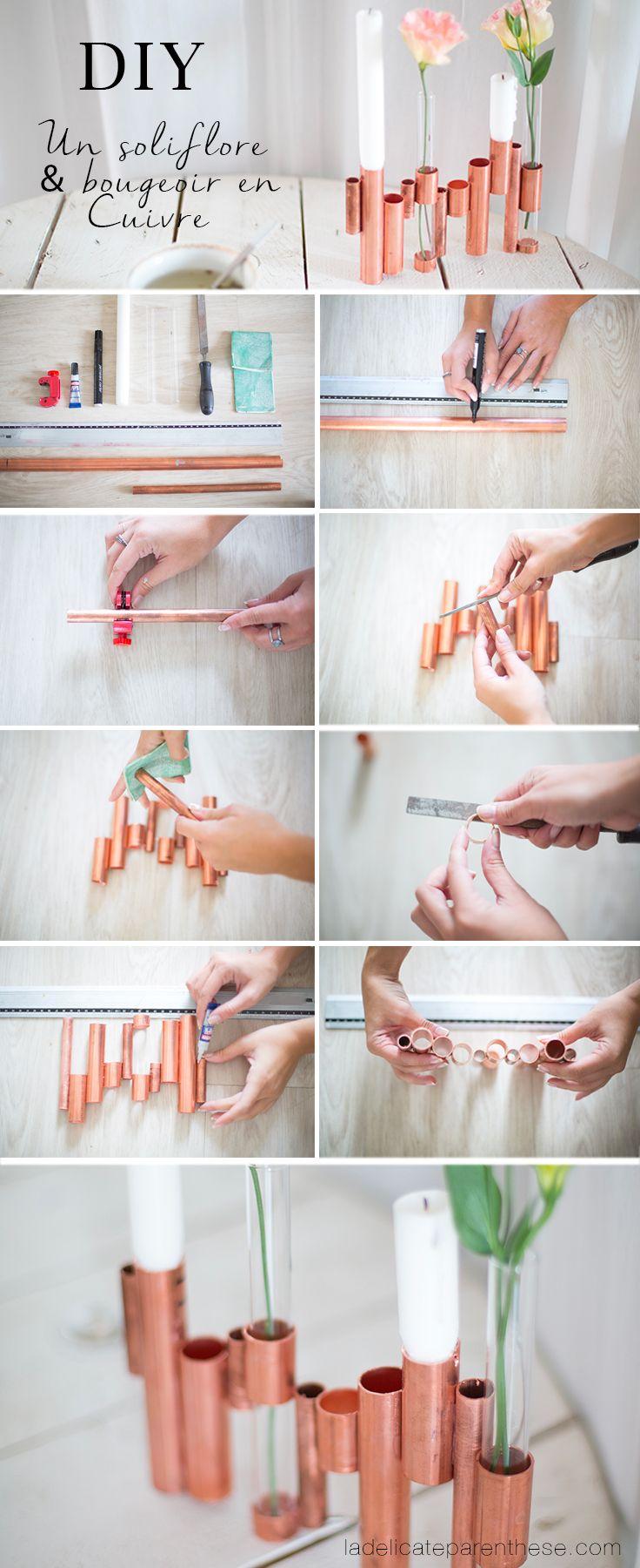 [ DIY ] Transformez des tubes de cuivre en soliflore bougeoir - La Délicate Parenthèse