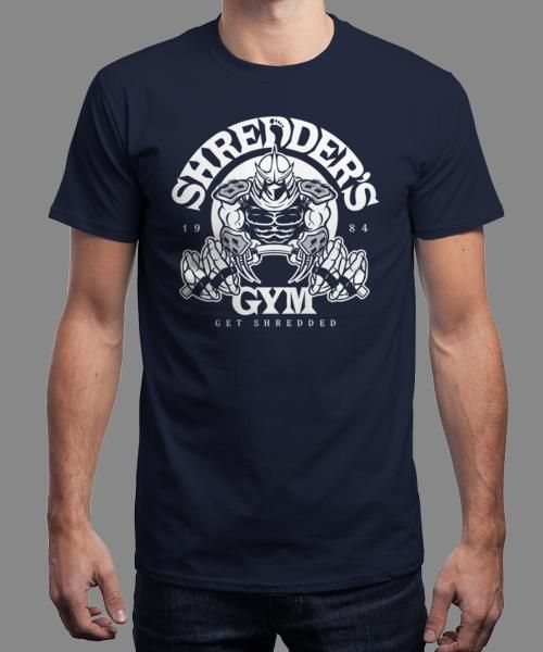 """""""Shredder's Gym"""" is today's £8/€10/$12 tee for 24 hours only on www.Qwertee.com Pin this for a chance to win a FREE TEE this weekend. Follow us on pinterest.com/qwertee for a second! Thanks:)"""