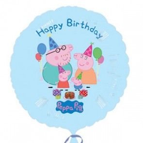 Peppa Pig and her Family, Happy Birthday 45cm Foil Balloon (1pc)