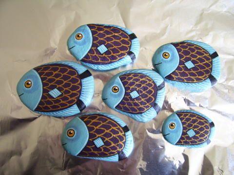 Blue Fish Painted Rocks