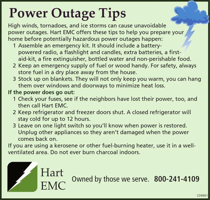Power Outage Tips    High winds, tornadoes, and ice storms can c use un avoidable  pow er ... | Hart EMC - Toccoa, GA #georgia #ToccoaGA #shoplocal #localGA