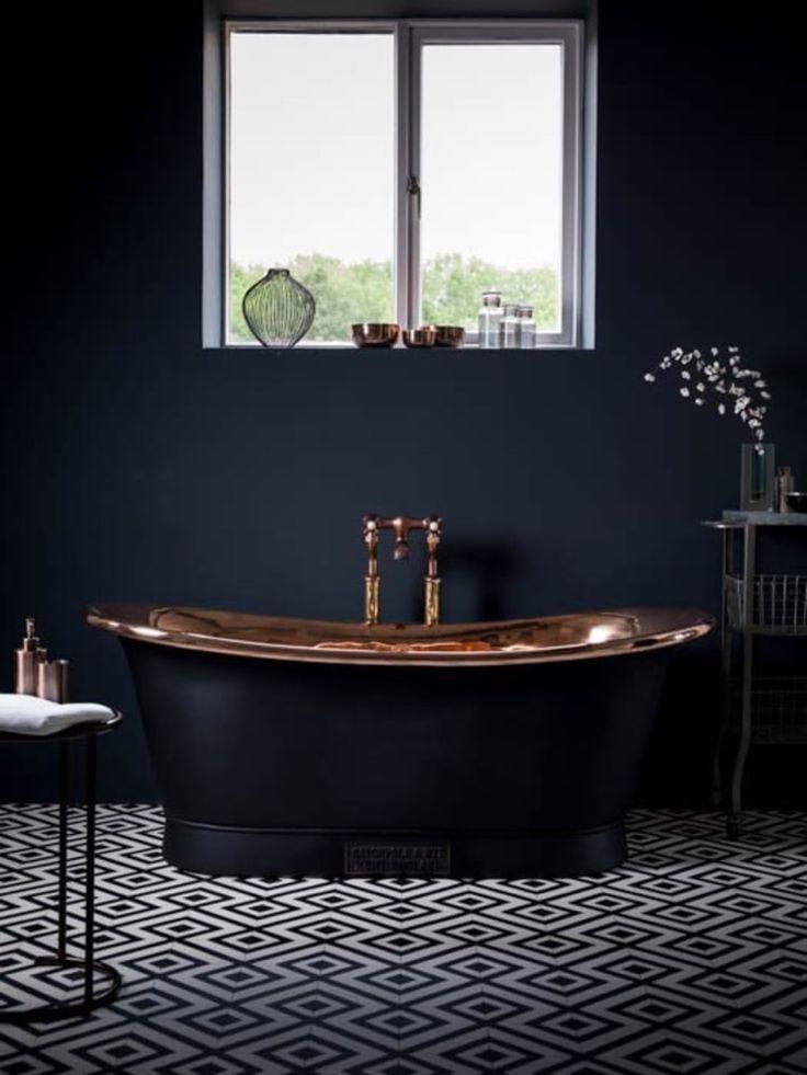les 25 meilleures id es concernant baignoire de cuivre sur pinterest salle de bains moderne. Black Bedroom Furniture Sets. Home Design Ideas