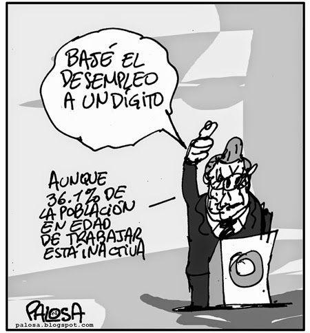 PALOSA - Caricatura Editorial: DESEMPLEO Publicado 18 de septiembre de 2014