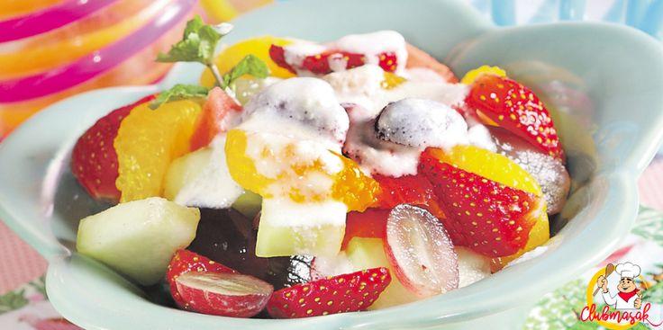 Resep Hidangan Buah, Salad Buah Yoghurt, Menu Diet Sehat, Club Masak