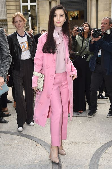 Fan Bingbing is seen arriving at Valentino Fashion show during Paris Fashion Week Spring/Summer 2017 on October 2 2016 in Paris France