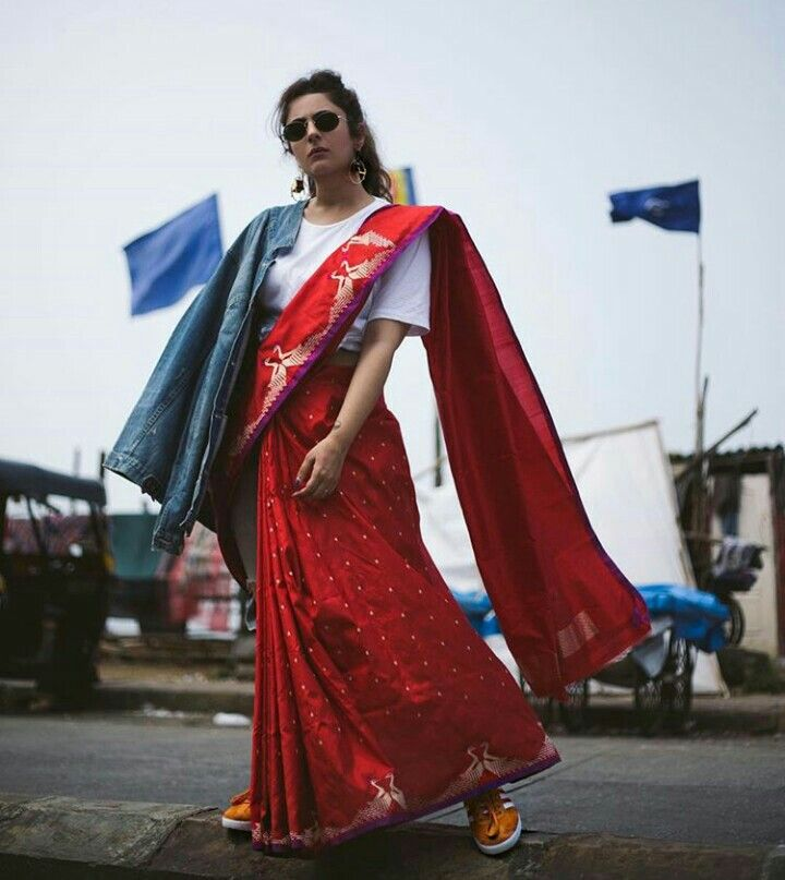 Who says a saree can't have swag?:B #ShereenLoveBug #LoveandOtherBugs