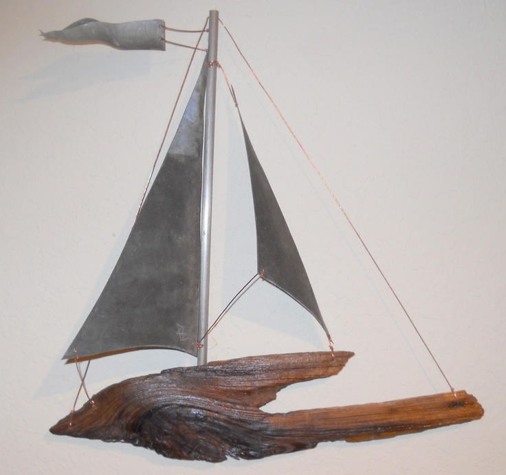 Fabulous 94 best Driftwood Sailboat Wall Art images on Pinterest | Sailing  FM61