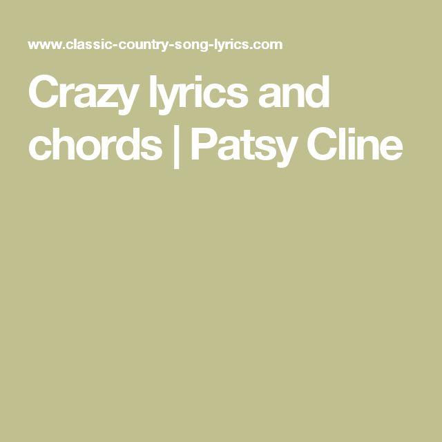 Crazy lyrics and chords | Patsy Cline