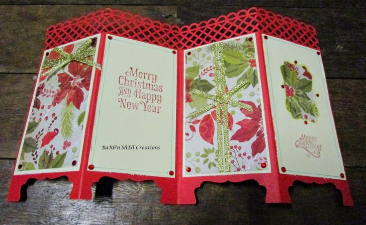 BaRb'n'ShEll Creations: Kaisercraft St Nicholas and Christmas Carol Collections Folding Screen Cards - made by Shell