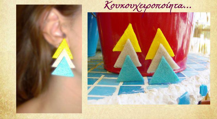 geometric, felt, colorful