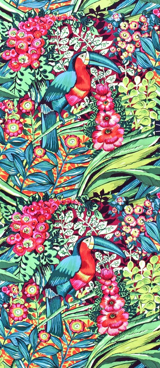 Gorgeous #tropical print. I love #textiles that remind me of summer all year long.