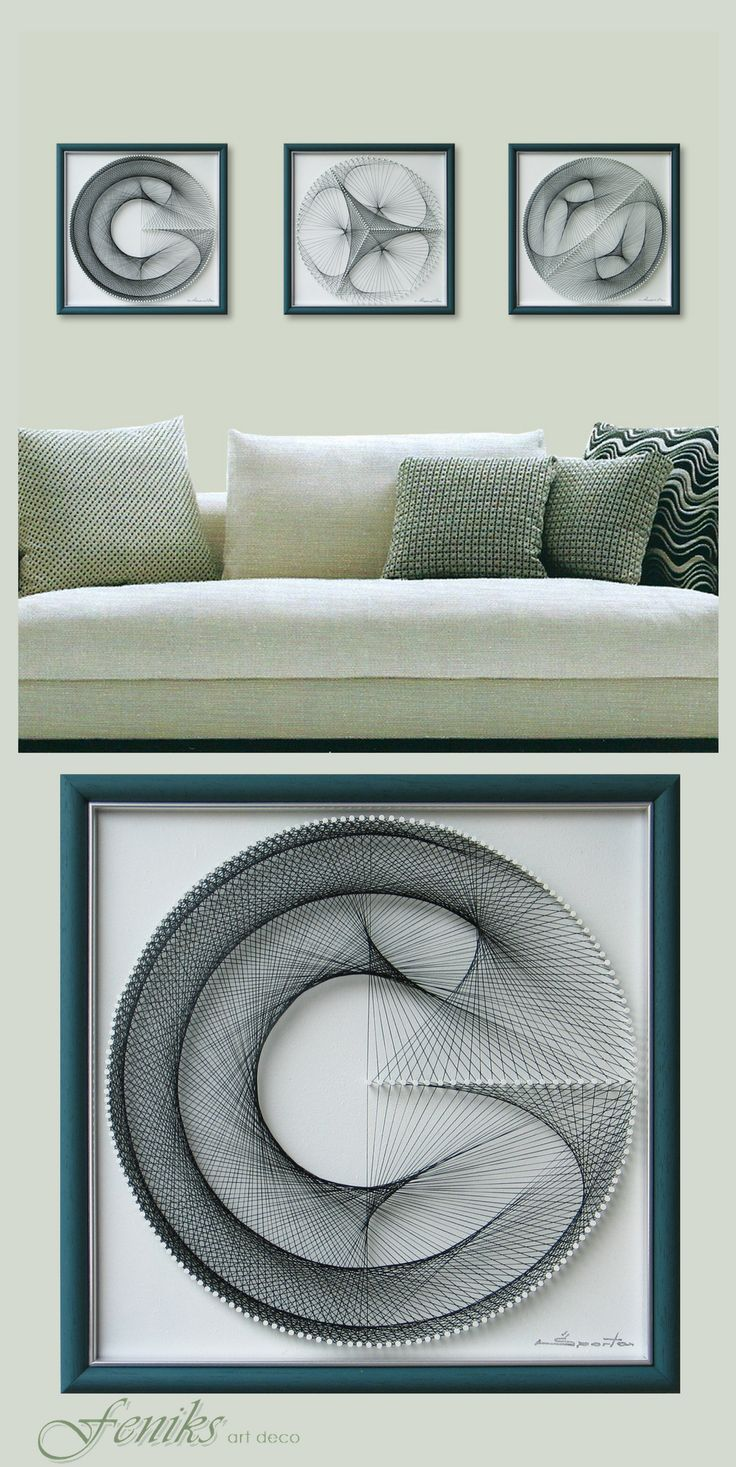 Home interiors and gifts framed art - Wall Decor In Pale Turquoise For Home Or Office 3d Zen Wall Art Set Abstract String Art Sacred Geometry A Special Gift Framed Art